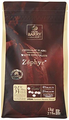 CACAO BARRY 34% Min Cacao Chocolat Zéphyr Pistoles 1 kg