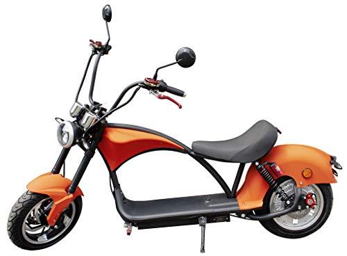 Trendyshop365 Elektroroller Chopper mit Straßenzulassung Aufbauservice Elektroscooter E-Scooter E-Roller