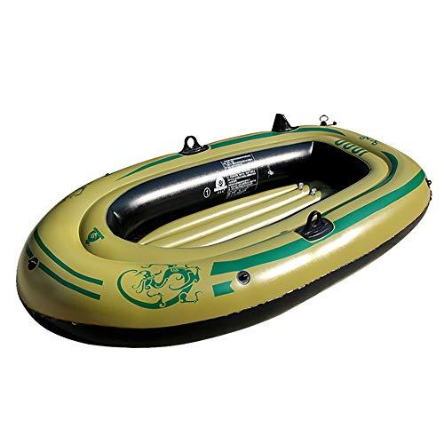 Yhjkvl Balsa de pesca inflable para 2 personas con bomba de aire eléctrica y remos para principiantes y profesionales (color: marrón, tamaño: 190 x 115 x 25 cm)