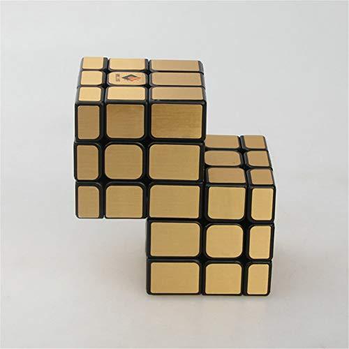 SYLL Espejo de Tercer Orden 2 Incluso 3 Cubo de Rubik Fondo Negro Etiqueta Dorada Cubo de Velocidad Juguetes educativos Juguetes Especiales Niños Regalos para Adultos