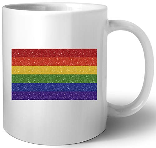Funkeln Regenbogen Stolz Flagge Keramik Tassen Mug