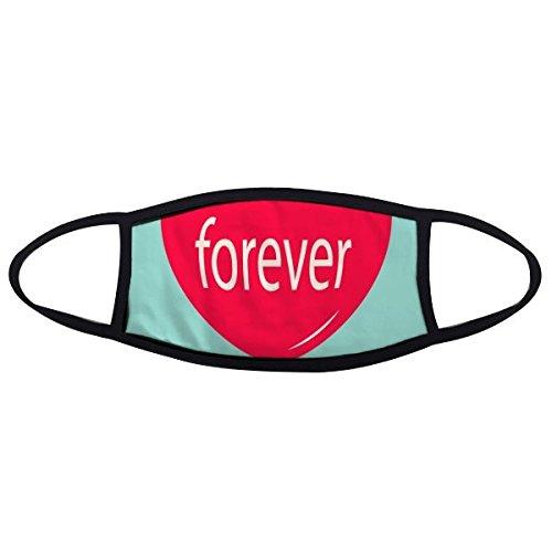 Valentijnsdag Forever Rood Groen Hart Gevormde Ballon Illustratie Patroon Gezicht Anti-stof Masker Anti Koud Masker