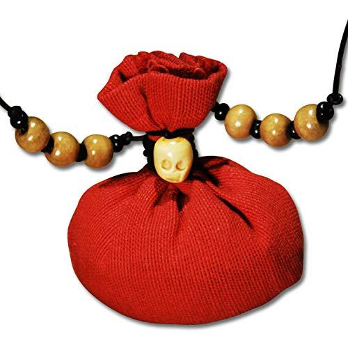 Voodoo Ouanga - Glück - Voodoo Amulett mit Lederband - Mojo Bag