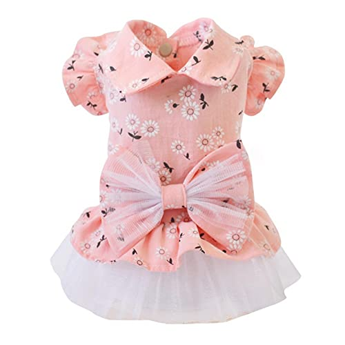 XXIXXV Vestido de perro para mascotas con patrón de girasol, ropa para...