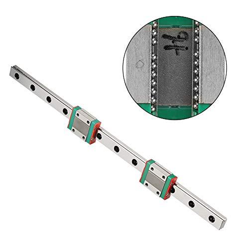 Miniatur Linearschiene Führungsschiene,MGN12 300mm Mini Linear Rail Guide, 12mm Breite Linear Schiebetür Gide mit 2pcs MGN12B Schiebeblock,Anti Rost und Hohe Präzision