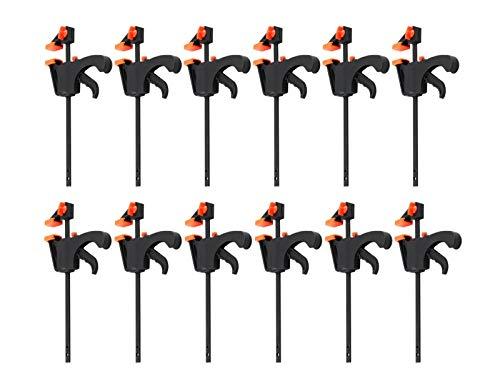 12x Einhandzwingen Set 40x100mm Nylon Klemmzwingen Schnellspannzwingen 2149625