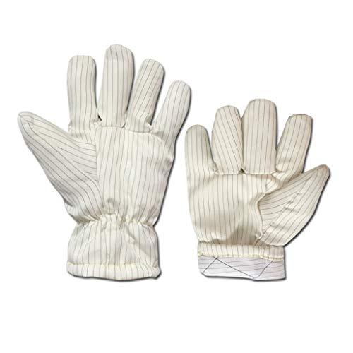 A Npeiyi Hochtemperatur-Antistatik 300 ° Verbrühungsschutz Hitzebeständige, fusselfreie Handschuhe Industriehandschuhe Weißer Streifen Perfekt for Kamin, Ofen