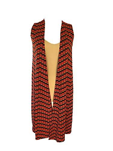 Womens LuLaRoe Joy Long Vest Honeycomb Pattern Size XSmall