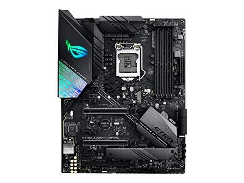 ASUS ROG STRIX Z390-F Gaming - Placa base Gaming ATX Intel de 8a y 9a gen, LGA 1151 con Iluminación RGB Aura Sync, OC por IA, DDR4 4266 MHz+, 2 M.2 con disipación, SATA 6Gbps, HDMI y USB 3.1 Gen. 2