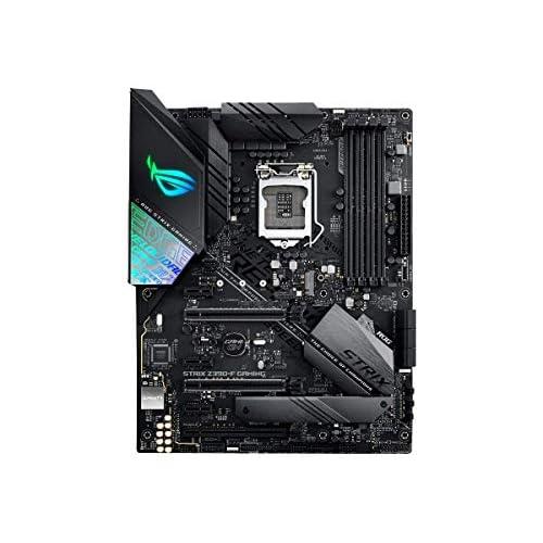 ASUS ROG STRIX Z390-F GAMING Intel Z390 LGA 1151 ATX Scheda Madre da Gioco con Aura Sync, DDR4 4266 MHz +, Doppio M.2, SATA 6Gbps, HDMI, USB 3.1 Gen 2, Nero