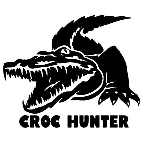 JYIP 15.1cm*12.5cm Croc Hunter Animal Car Styling Decor Vinyl Car Sticker S4-0779 Black