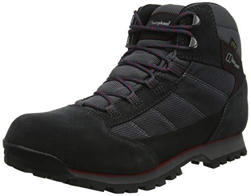 Berghaus Hillwalker Trek Tech, Chaussures de Randonnée Basses Hommes, Noir (Black/Red B59), 40.5 EU