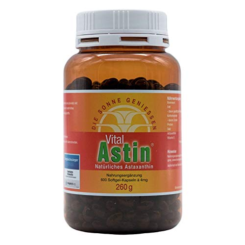 Astaxanthin - versandkostenfrei - VitalAstin 600 Kapseln - Das Original Ivarssons VitalAstin mit 4 mg natürlichem Astaxanthin - Antioxidans Bild