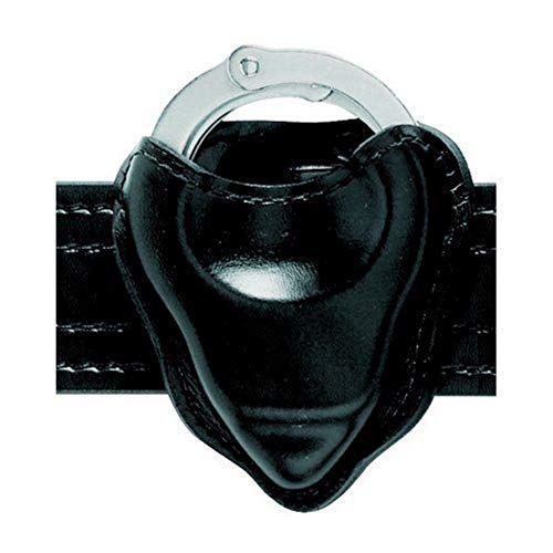 Safariland 090H-18 Handcuff Pouch Open Top for Hinged Handcuffs, Black, Basketweave
