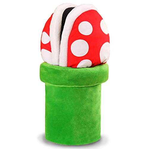 Lopbraa Piranha Plants Cannibal Flower Style Plush Slippers Loafer with Pipe Pot Holder Funny Slippers Gift for Adults Teens (Piranha Plants)