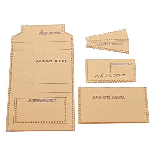 Plantilla de plantilla acrílica con patrón de billetera, molde hecho a mano para bricolaje, regalo para amigos, familiares