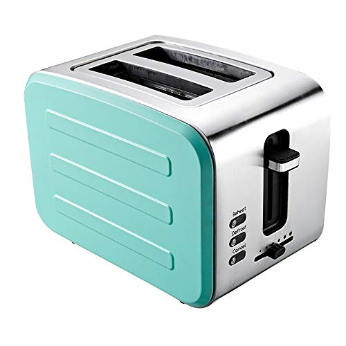 YFGQBCP Tostadora Toaster Home Tostadora multifunción de Acero Inoxidable Home Toaster Máquina de Desayuno de 2 Piezas (Color : Green)