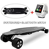 COLORWAY Skateboard Elettrico con 4 Ruote Long Board (SB-White)