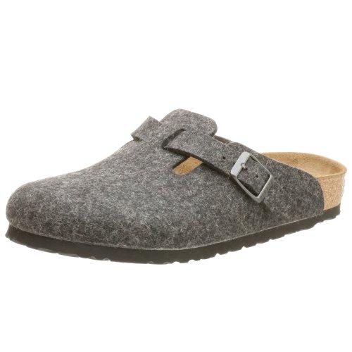 Birkenstock, zoccoli, unisex, per adulti, Nero (Anthracite Wool), 38 EU