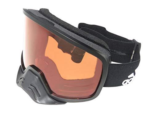 Adidas Ad84/75 Backland Dirt Herren/Damen Schutzbrille, Vollrand, 100 % UVA- und UVB-Gläser, Schwarz, Größe: 0-0-0