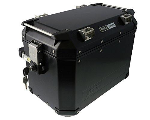Alu-Seitenkoffer GIVI Trekker Outback 48 linkes Monokey Aluminium schwarz