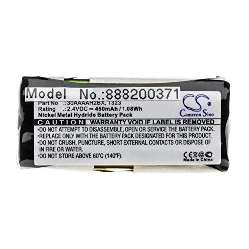 vhbw batería Compatible con AEG D10, D9, SMS teléfono Fijo inalámbrico (450mAh, 2.4V, NiMH)