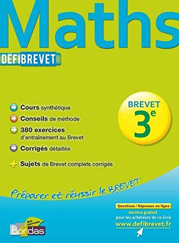 DEFIBREVET MATHS 3E