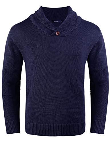 iClosam trui heren V-hals lange mouwen sweater