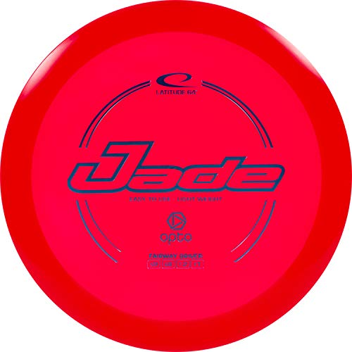 Latitude 64 Opto Jade Disc Golf Driver | Frisbee Golf Fairway Driver | Beginner Friendly Stable Golf Disc | Reliable Flight Patterns | Stamp Colors Will Vary (Red)