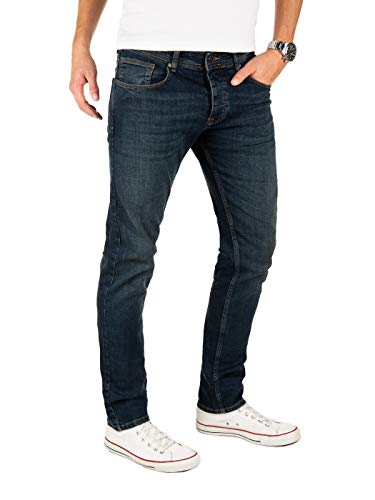 Yazubi Jeans Herren Edvin Slim - Jeans Hosen für Männer - dunkel Blaue Denim Stretch Hose Jeanshose Regular, Blau (Dark Denim 194118), W31/L34