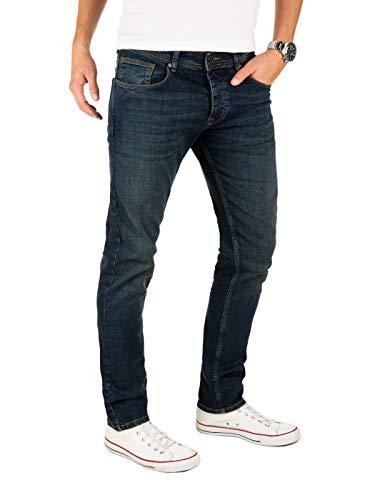 Yazubi Jeans Herren Edvin Slim - Jeans Hosen für Männer - dunkel Blaue Denim Stretch Hose Jeanshose Regular, Blau (Dark Denim 194118), W32/L34