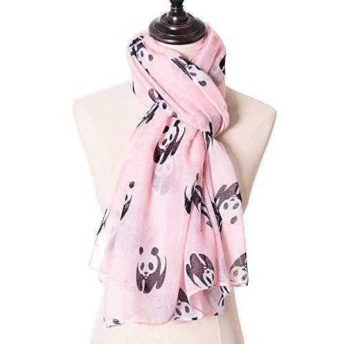 SZZ0306 Panda drucken Paris Garn Schal Schal nationalen Schatz Tier Schal rosa 180 * 90cm