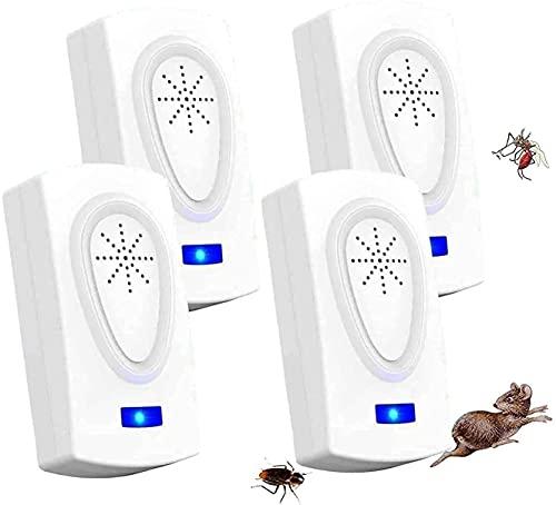 MATEHOM Repellente ad ultrasuoni per Interni,Efficace Contro:Repellente elettronico e ad ultrasuoni per zanzare, Topi, Ragni, formiche, ratti, scarafaggi, Roditori da Interno
