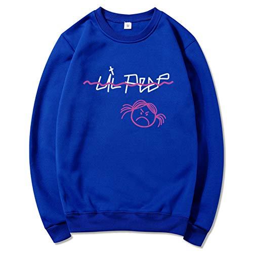 Lil Peep Hoodie Pullover Chaqueta con Capucha Tallas Grandes Lil Peep Hoodie Damen Raglan Sweatshirt Kid XXXL
