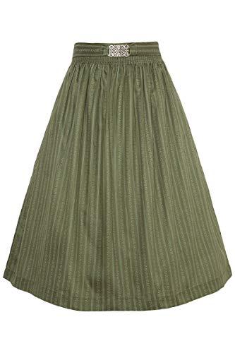 Mia san Tracht. Damen Dirndl-Schürze 65cm mit Broschen-Schließe Trachtengrün, 9341/72-TRACHTENGRÜN/ANTIK (grün), L