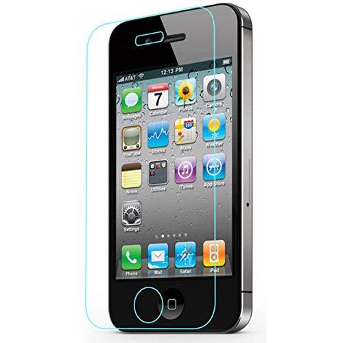 QSONGL Para iPhone 4 4S 5 5s SE 6 6s 7 8 Plus XR X XS MAX Película Protectora de Pantalla 9H Dureza HD Transparente Cristal Templado sin Burbujas Resistente a los arañazos