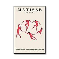 マティス抽象美術展のポスターとプリントウォールアート写真現代の家庭フレームレス装飾キャンバスの絵画 5番 30x45cm