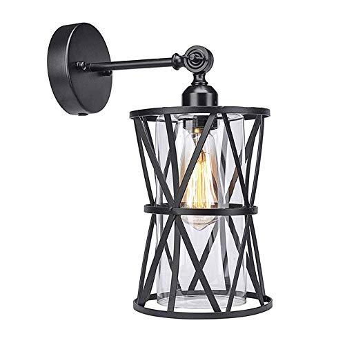 Retro Wandleuchte E27 Edison-Lichtquelle Industrielle Wandleuchte Kreative Teleskop Beleuchtung Schmiedeeisen Wandleuchte für Schlafzimmer Nacht Studie Wohnzimmer (Größe: Ohne Zündkabel)