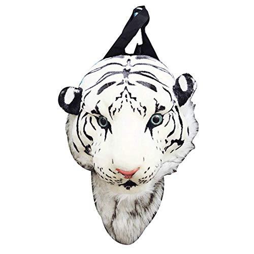 Plüsch 3D Tiger Lion Head Rucksack Student Funny Reisetasche