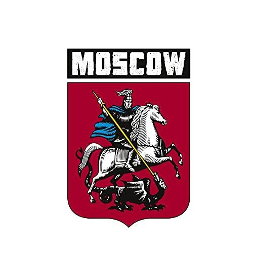 2x Autoadesivo auto Russia Mosca Travel Travel Stemma degli armamenti Accessori Auto Styling Vinyl Motorcycl Decalcomanie Impermeabile PVC 14cm x 10 cm (Size : 28cm x 20cm)