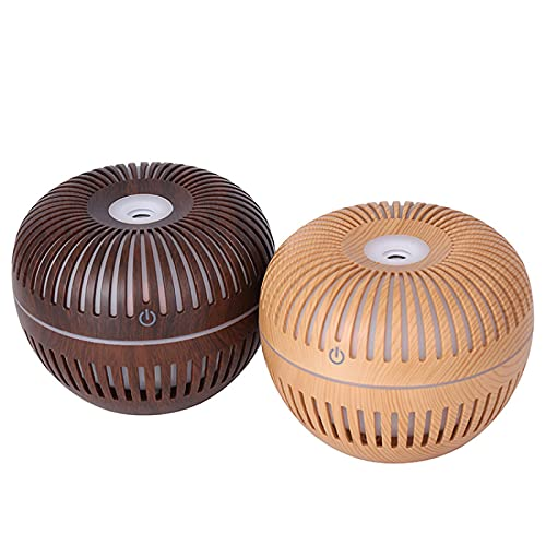 PGZLL Mini Usb Wood Grain Aromatherapy Air Purifying Humidifier, 5vusb Office Car Essential Oil Perfume Disinfection Air Purification [Color: Dark Wood Grain, Light Wood Grain]
