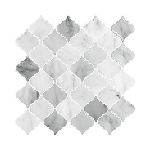 JQDZX Adhesivo para azulejos, 3D Auto-Adhesivo PVC Impermeable Pegatinas de Baldosas Decorativo, para Sala la zona del salpicadero de la cocina (10pcs,B)
