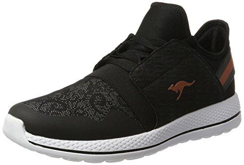 KangaROOS Damen W-300 Sneaker, Schwarz (Black/Vapor Grey), 41 EU