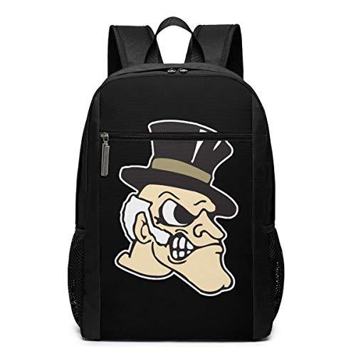 ZYWL Wake Forest University Premium Mochila para portátil de Viaje de 17 Pulgadas, Bookbag, Business Bag