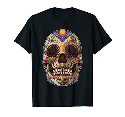 Sugar Skull Maske   Calavera   Dia De Los Muertos T-Shirt