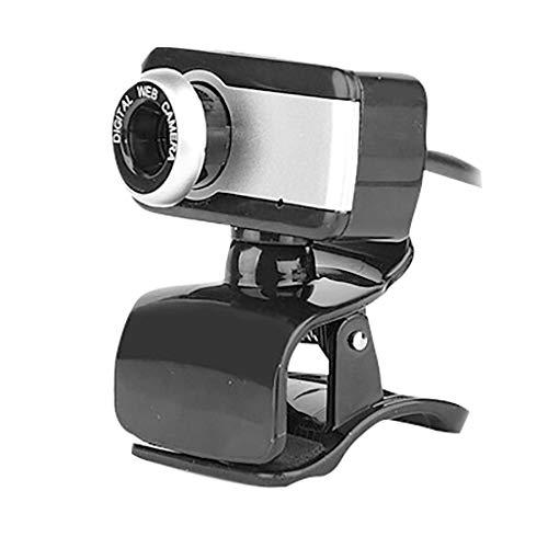 UKtrade PC Usb Webcam Con Micrófono Webcam Perfecto Para Portátil Clase 360 Grados Giratorio
