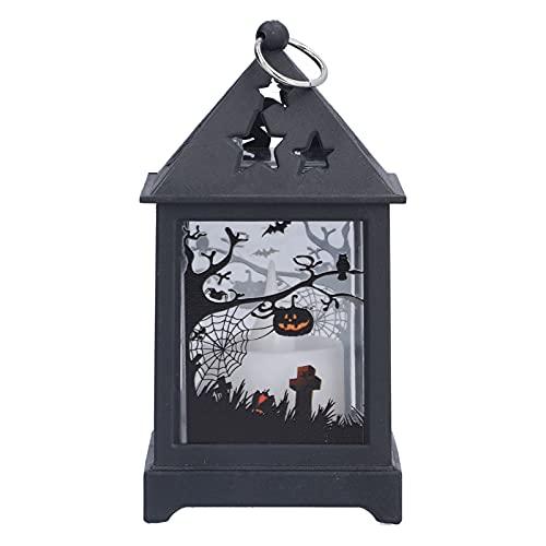 Luz Decorativa, Linterna de Vela Duradera Innovadora para Halloween para Sala de Estar para Casa Embrujada(Gato)
