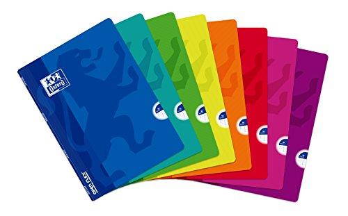 Libretas Oxford Tapa plástico. Pack de 10 unidades.  A4. 48 hojas. Cuadrícula 4x4