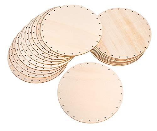 Peddigrohrböden 20 Stück Korb Holz VBS Großhandelspackung Ø 17 cm