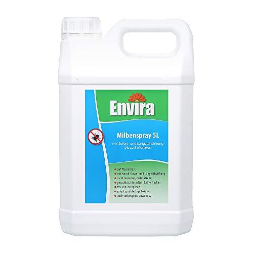 Envira Anti-Milben-Mittel 5Ltr - Milben-Spray Mit Langzeitwirkung - Geruchlos & Auf Wasserbasis